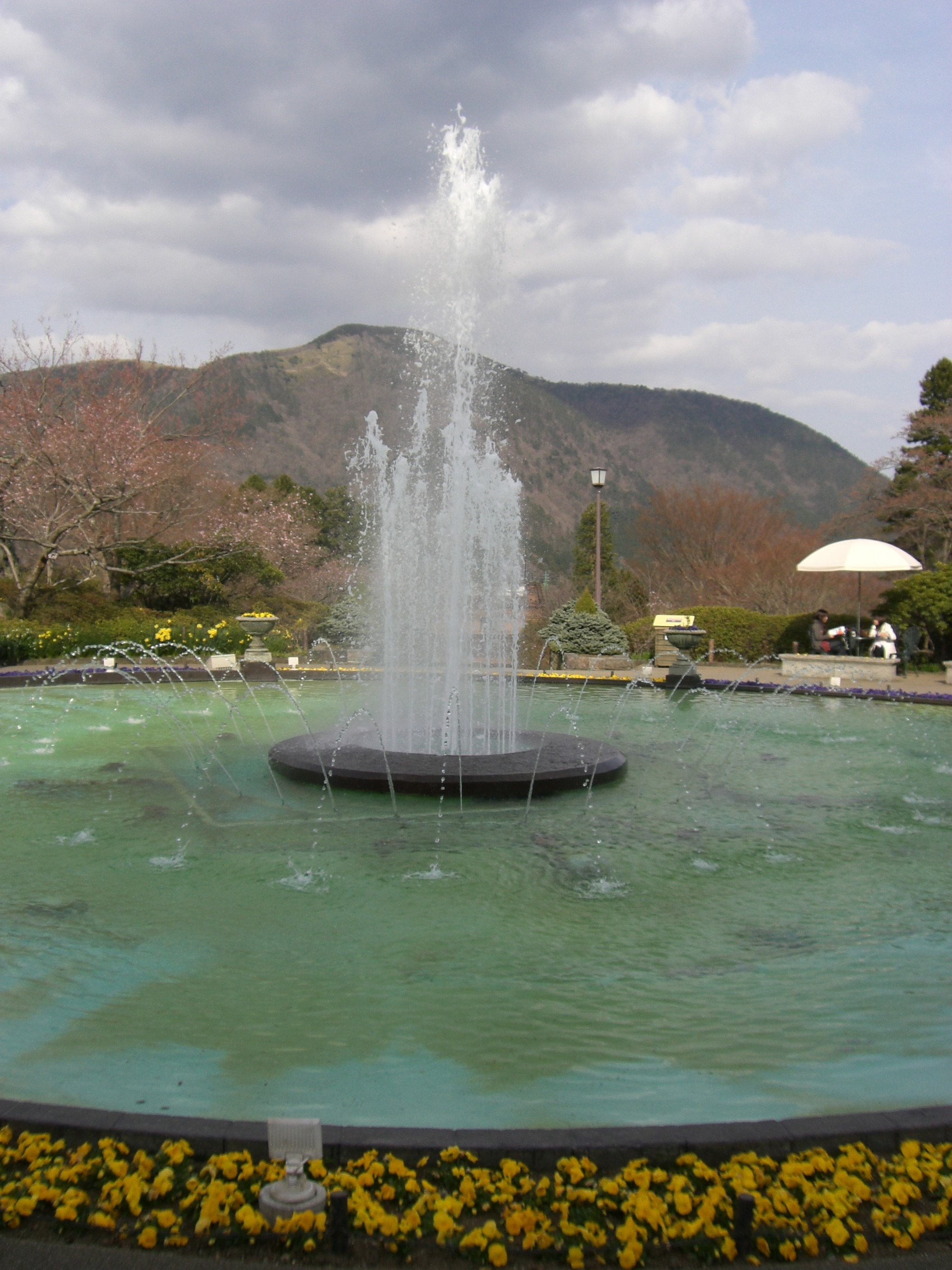 fountain in Gora park of Japan