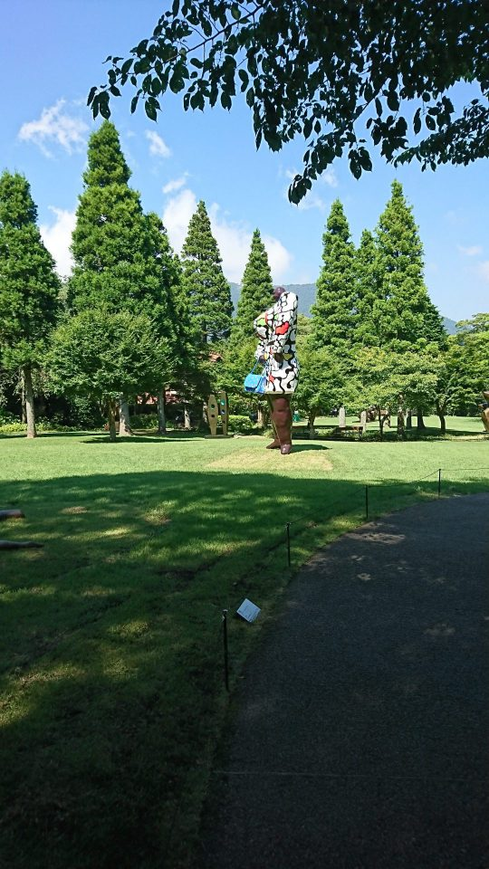 Miss Black Power in Hakone open-air museum