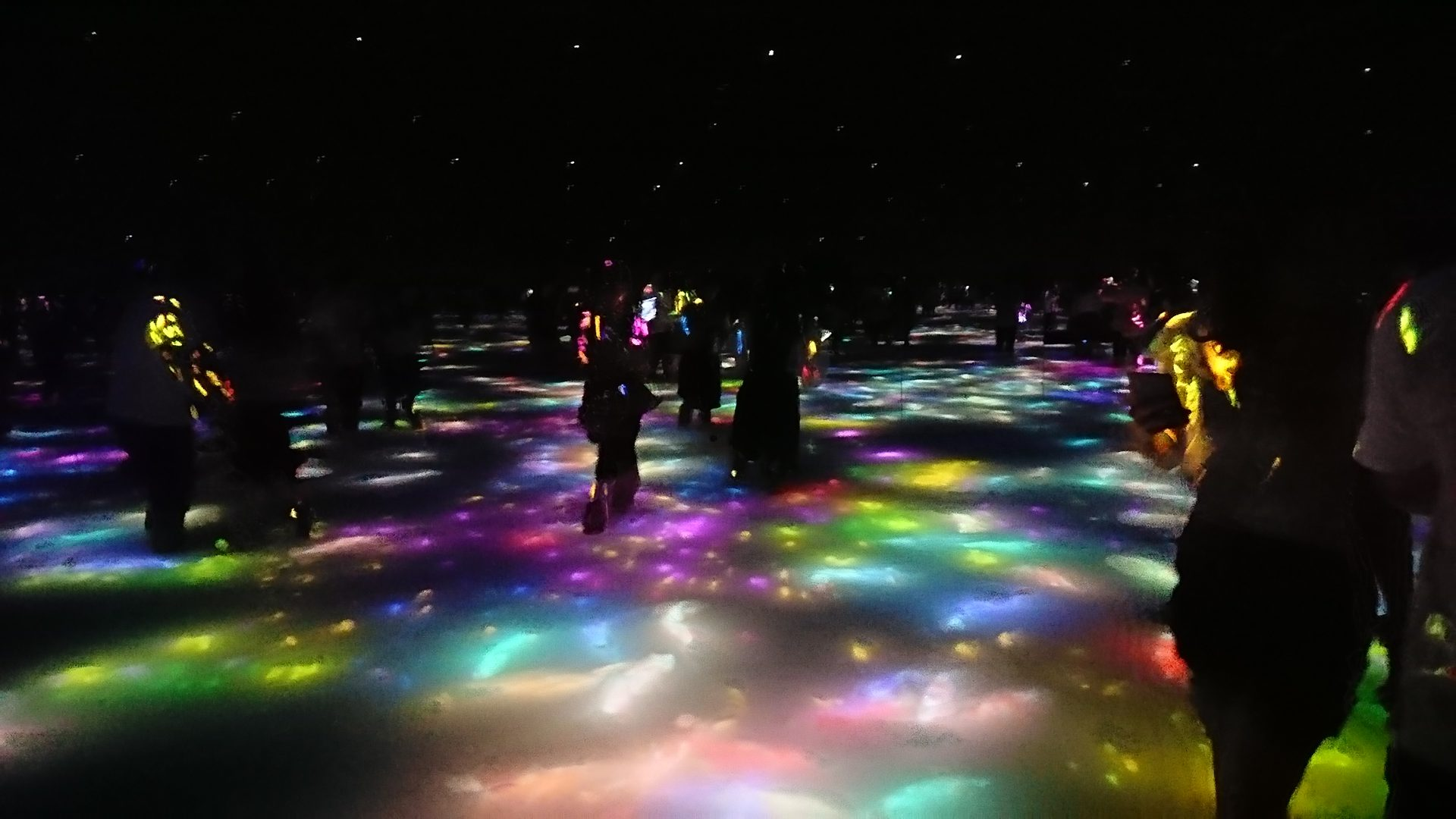 """Drawing on the Water Surface Created by the Dance of Koi and People - Infinity"" at team Lab Planets in Toyosu, Tokyo"