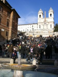 The stairs of Piazza di Spagna in Rome.