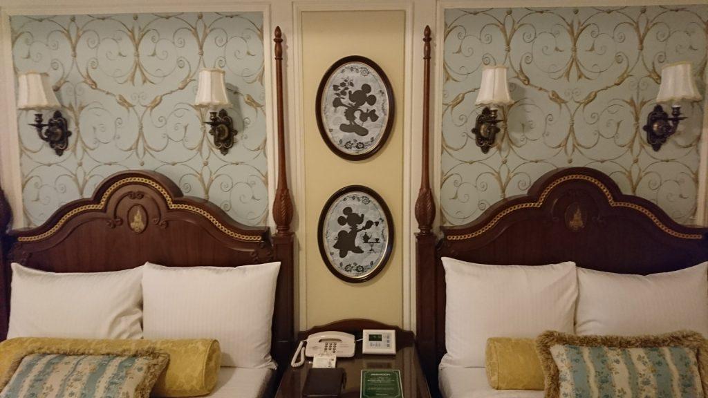 Bedroom of of Tokyo Disneyland Hotel