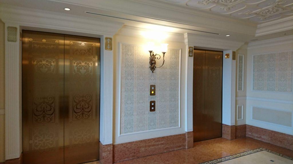 The elavators of Tokyo Disneyland Hotel