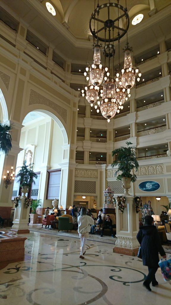 lobby of Tokyo Disneyland Hotel